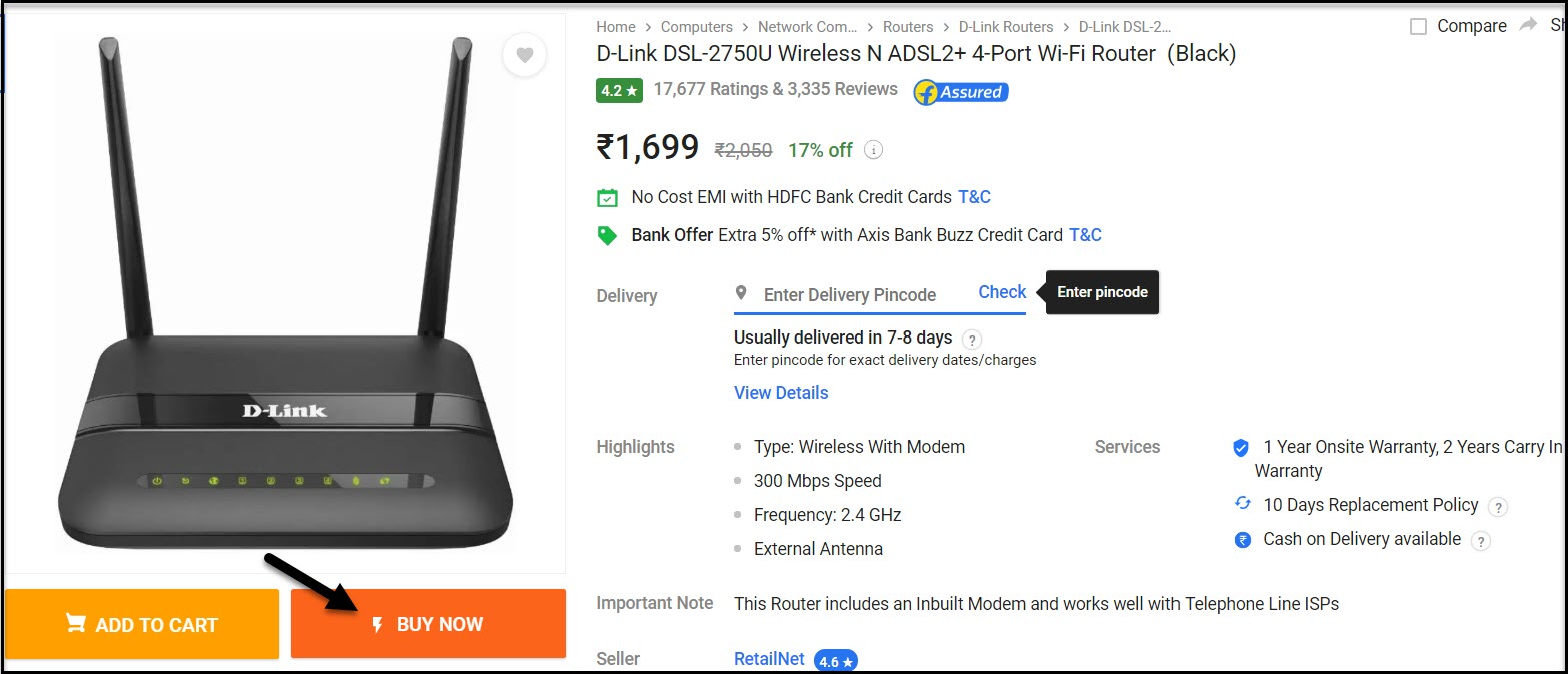 Flipkart Product information